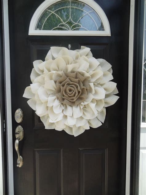 Make A Statement With This Beautiful Large Burlap Flower
