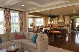 kitchen and family room ideas family room design with kitchen decor tembk brown beige tiled floor pictures to pin on