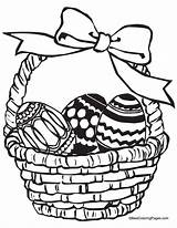 Easter Coloring Pages Baskets Basket sketch template