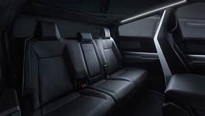 Tesla Cybertruck Electric Pickup Truck Interior Rear Seats - MotorTrend