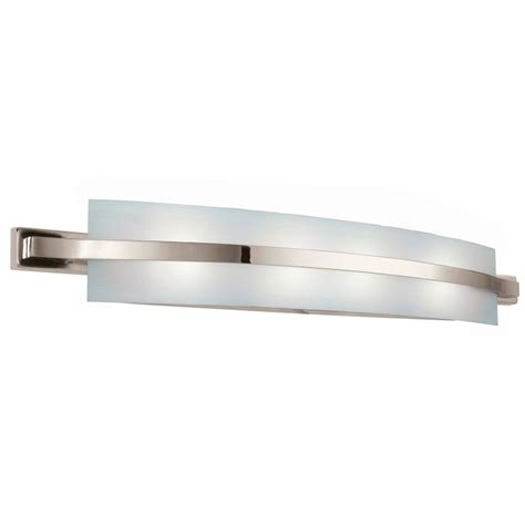 Fluorescent Bathroom Lighting Fixtures by Kichler 10688pn Polished Nickel Freeport Energy