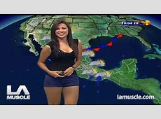 Susana Almeida, the world's hottest weather girl, sexy