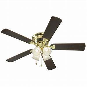 Harbor breeze ceiling fan light kit lowes : Harbor breeze centreville in polished brass flush