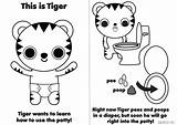 Potty Training Tiger Behance Learns sketch template