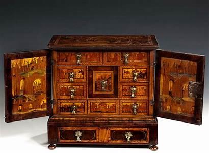 Cabinet Antique Stand Oyster Miniature Veneered Century