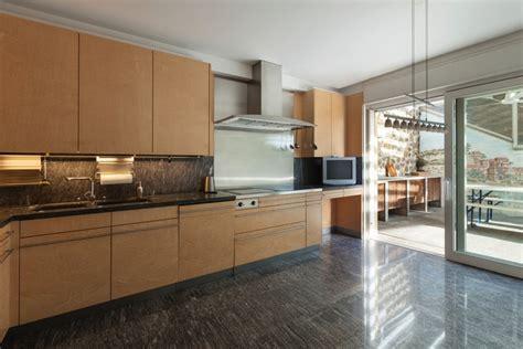 polished concrete floors   kitchen  modernize