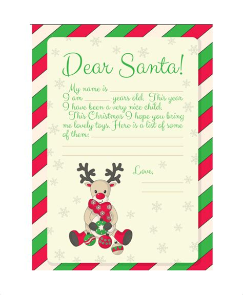 letter to santa template santa letter template 9 free word pdf psd documents free premium templates