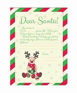 santa letter template 9 free word pdf psd documents With children s letters to santa