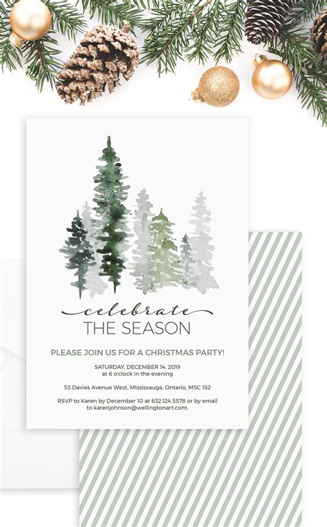 Evergreen Trees Celebrate the Season Christmas Party