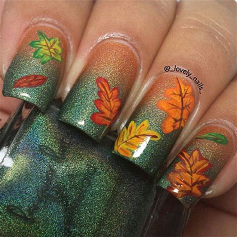 autumn nail designs 15 best autumn leaf nail designs ideas trends