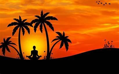 Yoga Meditation Silhouette Harmony 4k Background Laptop