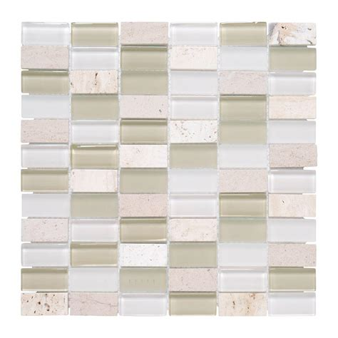 jeffrey court silver screen mosaic tile jeffrey court cottage ridge mini brick 1175 in x 12 in x 8