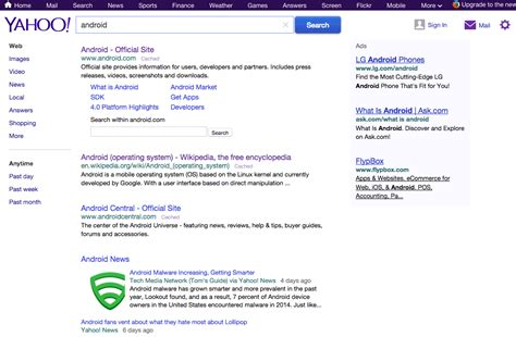 yahoo search is testing like interface