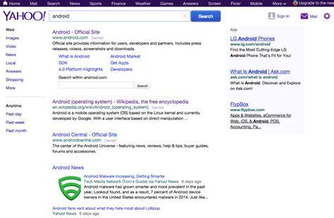 yahoo search is testing like interface