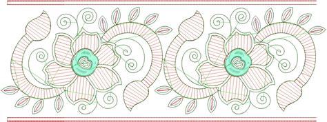 embdesigntube embroidery designs  sarees border
