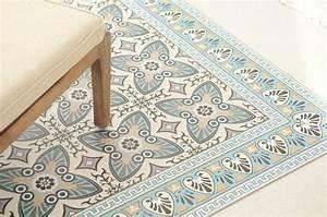 Tapis Vinyl Salon : tapis vinyl impression carreaux ciment beija flor sur inspiration ~ Teatrodelosmanantiales.com Idées de Décoration