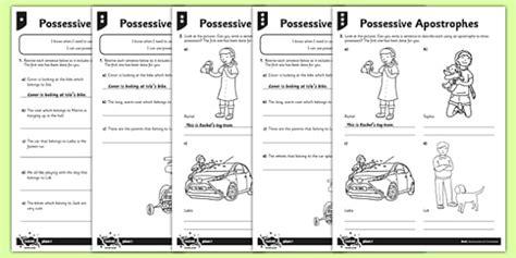 teaching apostrophes ks1 possessive apostrophes differentiated worksheet activity
