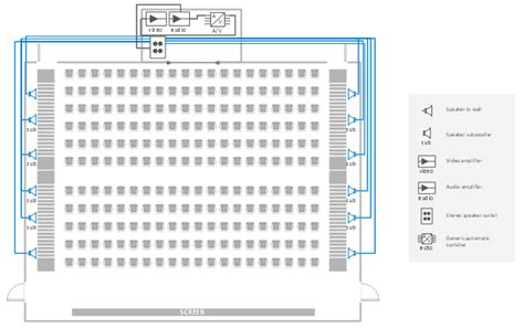 Theatre Style Seating Plan Template by Seating Plans Building Drawing Software For Design