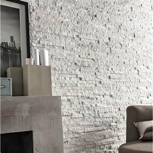 Plaque De Parement Leroy Merlin : plaquette de parement pierre naturelle blanc ultra leroy ~ Dailycaller-alerts.com Idées de Décoration