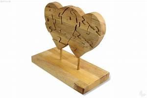 Deko Aus Holz : deko puzzle zwei herzen nachhaltiges aus sozialen manufakturen ~ Markanthonyermac.com Haus und Dekorationen