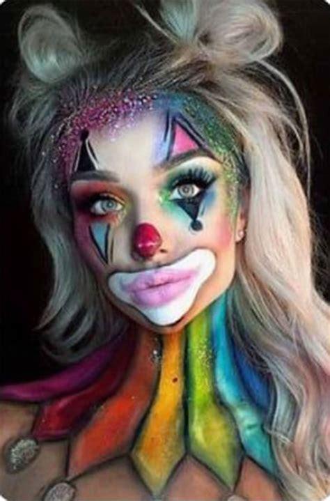 halloween clown makeup  ideas  girls women  modern fashion blog