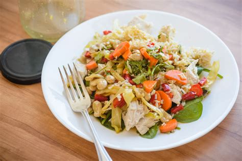 prepare ahead office lunch of chicken and rice salad the root cause