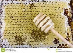 Stick For Honey On The Honeycomb Stock Photo - Image: 60309930