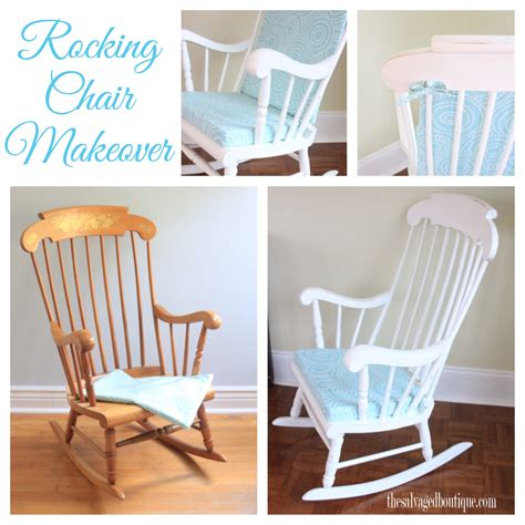 vintage rocking chair makeover for a baby nursery sloan chalk paint by the salvaged