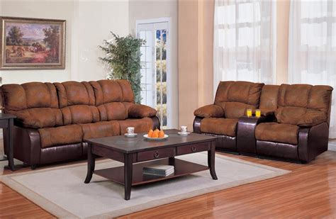 And Loveseat Cover Sets by Ronan 2 Reclining Sofa Loveseat Set In Two Tone