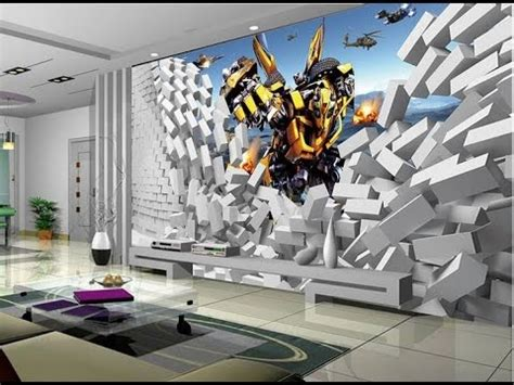 Creative Interior Painting Ideas 20 Most Stunning 3d Wallpaper For Walls Decorating Youtube
