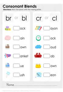 consonant blends worksheet  printable puzzle games