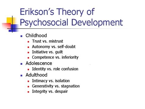 erik eriksons psychosocial development theory teaching