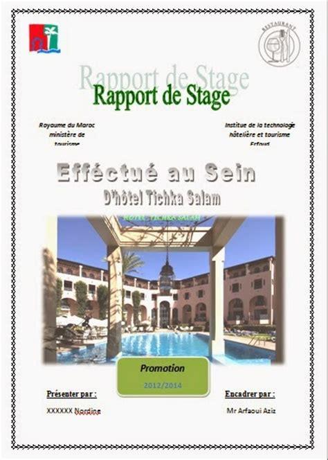 rapport de stage en cuisine exemple rapport de stage hotoliere rapport de stage itht