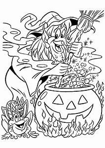 Bricolage Halloween Adulte : a colorier une sorci re avec un crapaud et une araign e entrain de r aliser une potion magique ~ Melissatoandfro.com Idées de Décoration