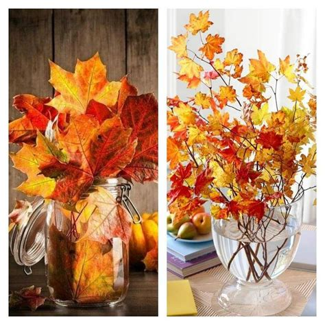 deco d automne d 233 coration pas cher avec des feuilles d automne feuille automne d 233 corations de table et pas cher