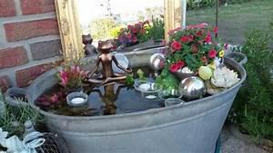 Zinkwanne Als Teich : zinkwanne miniteich garden pinterest ~ Pilothousefishingboats.com Haus und Dekorationen
