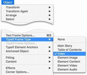 Create an index in Adobe InDesign – Typefi Support