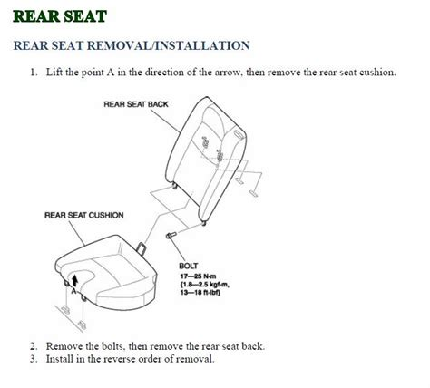 rear seats folding  rxclubcom