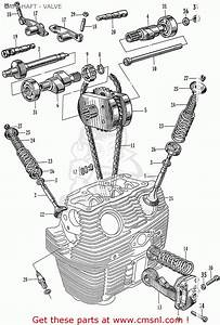 Honda C72 1960 1961 1962ii 1963 Dream  142592  Camshaft