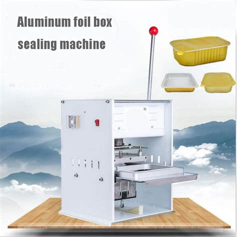 aluminum box aluminum foil box sealing machine instant noodle box sealing machine small pot tea
