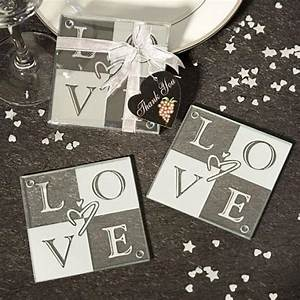 love glass coasters set of 2 wedding favors 1180908 With diy coasters wedding favors
