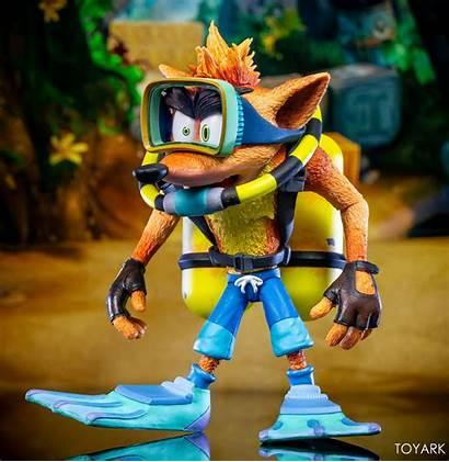Crash Bandicoot Scuba Neca Gear Action Deluxe
