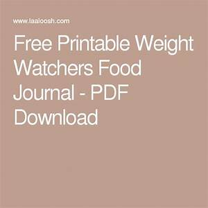 Weight Watchers Aktiv Points Berechnen : free printable weight watchers food journal pdf download food journal weight watchers food ~ Themetempest.com Abrechnung