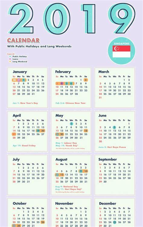 singapore  calendar template  excel word public