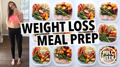 weight loss meal prep  women  week   hour youtube
