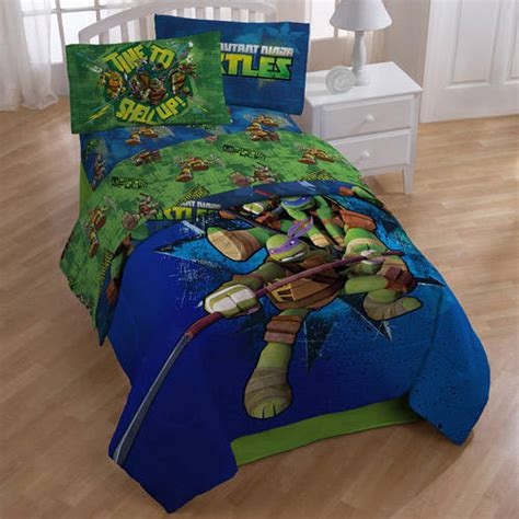 Turtle Bed Set by Mutant Turtles Sheet Set Walmart