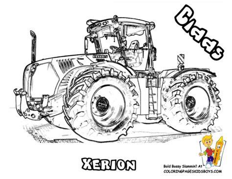 Coloriage Tracteur Réaliste Dessin Gratuit à Imprimer