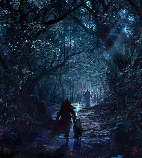 dark forest by asong0116 on deviantart