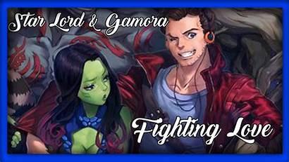 Gamora Starlord Fighting