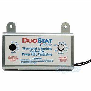 Ventamatic Xxduostat Dual Thermostat Humidity Control For